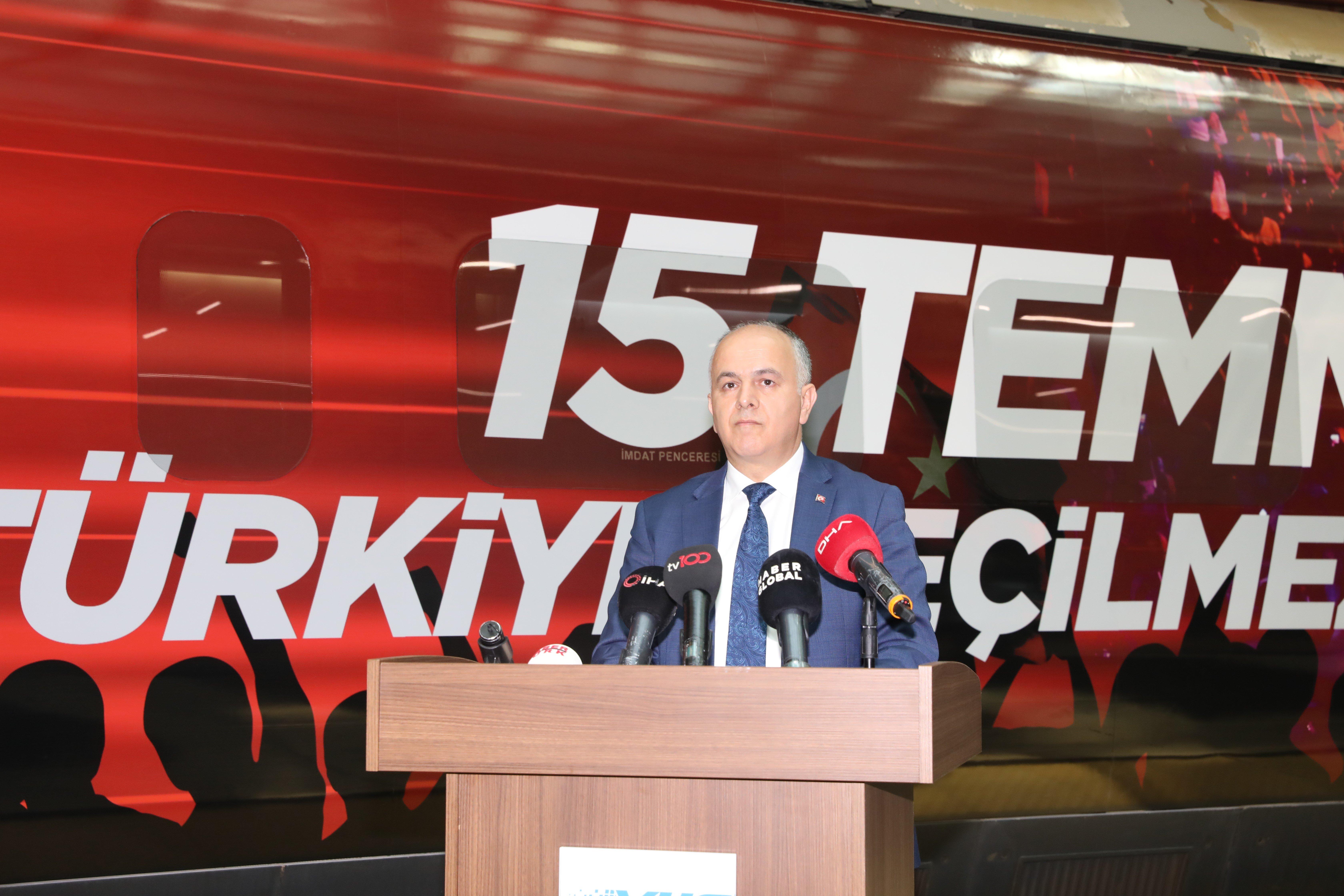 15 TEMMUZ DEMOKRASİ VE MİLLİ BİRLİK TRENİ ANKARA'DAN UĞURLANDI