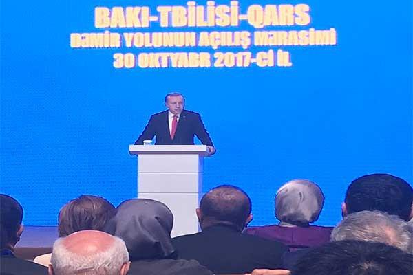 BAKÜ-TİFLİS-KARS DEMİRYOLU'NDA İLK TREN YOLA ÇIKTI