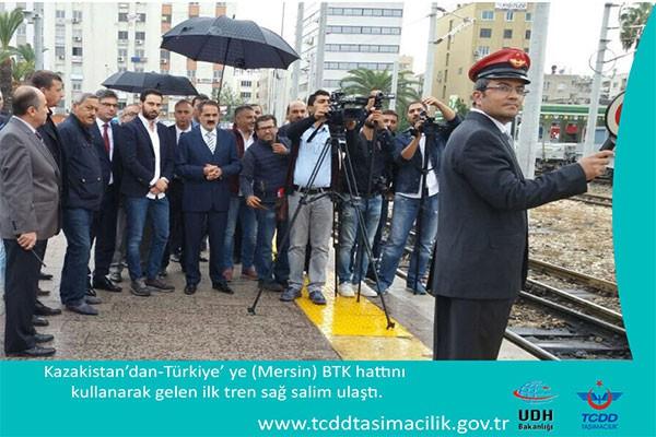 BTK'NIN İLK TRENİ MERSİN'E 10 SAAT ERKEN ULAŞTI