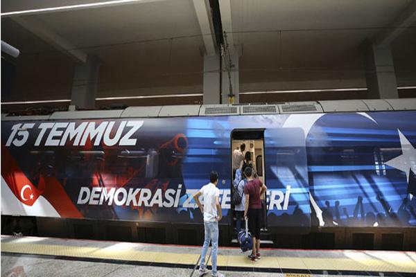 """""""15 TEMMUZ DEMOKRASİ ZAFERİ TRENİ"""" İLK SEFERİNE UĞURLANDI"""